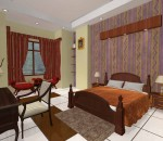Simplistic bedroom concept inspired by the hotel look