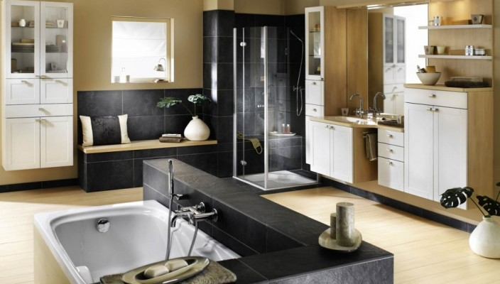 Modern Bathroom Interior for Large Spaces