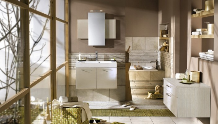 Unique and stylish bathroom concept for modern homes