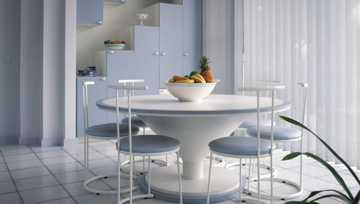 Ideal modern dining area for small spaces