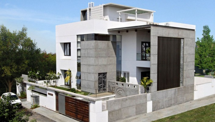 Interior exterior plan lavish cube styled home design for House paint design interior and exterior