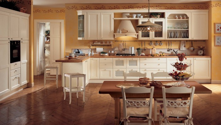 Large kitchen idea in a classy style