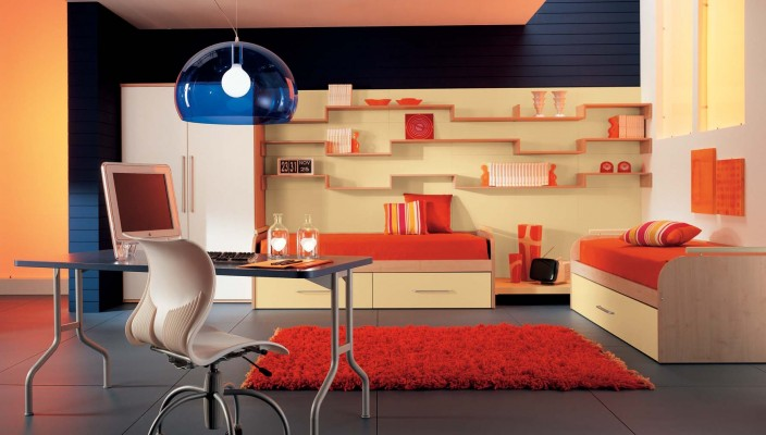 Bright Bedroom idea for two kids
