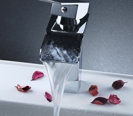 contemporary waterfall faucets for bathroom sinks